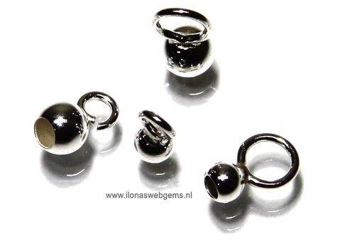 10 stuks sterling zilveren inlakbal open oogje