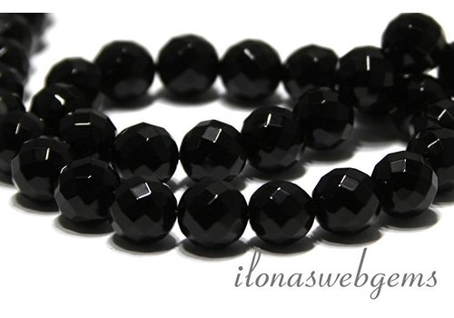 Onyx bead large faceted app. 12mm