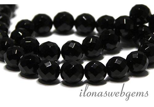 Onyx Perle grosse Facettenten ca. 10mm