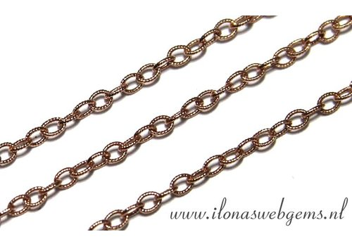 10cm Rosé Goldfilled schakels/ketting