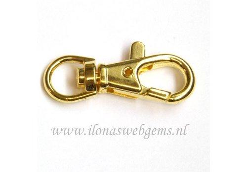 Gold Platede musketonhook app. 40x15mm