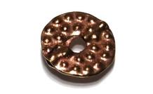 6 stücke `Rose gold` Hill tribe donut ca. 20x3mm