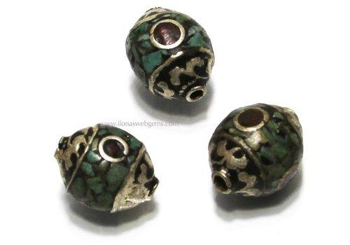 Tibetanische PerlemitKoralle und Türkis