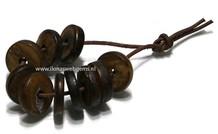 10 stücke Tibetanische Knochen discs ca. 20x5mm