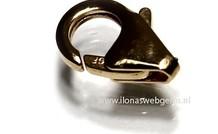 14k / 20 Gold gefüllt Hummer Schloss ca. 11mm