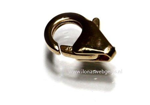 14k/20 Gold filled lobsterslot ca. 11mm