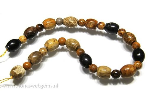 Fossil Coral beads mix