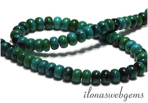 Chinese Chrysocolla beads roundel app. 8.5x5.5mm