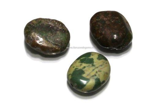 3 stücke Chrysopras Perle