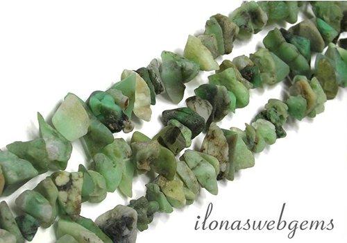 Chrysoprase beads `rough` app. 12x6mm