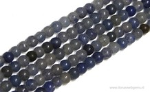 Blaue Aventurin Perlen ca. 4mm