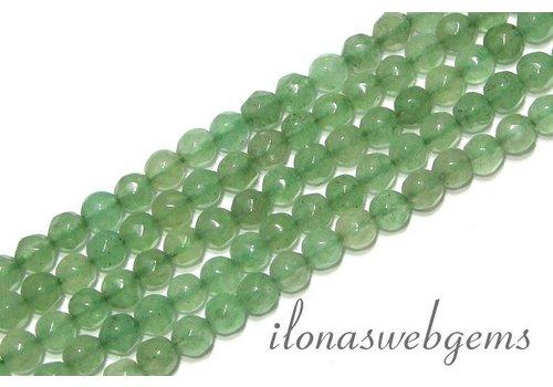 Aventurine beads facet round app. 4.5mm