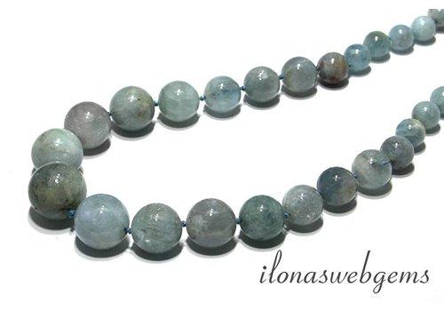 Aquamarine beads choker round