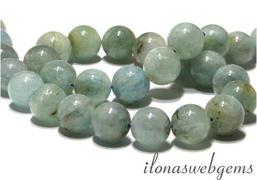 Aquamarine beads round app. 13mm
