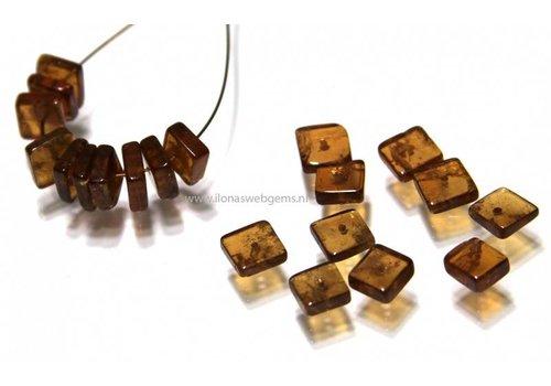 20 stücke Hessoniet  Perle viereckig ca. 5-6x2-3mm