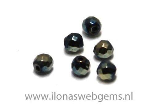 Mini Hematite bead / spacer facet around 2.5mm