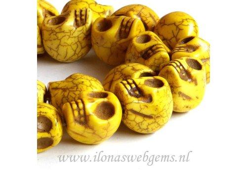 Howliet skulls geel ca. 18mm