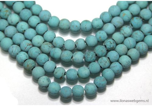 Howlite beads approx. 6mm with large holes