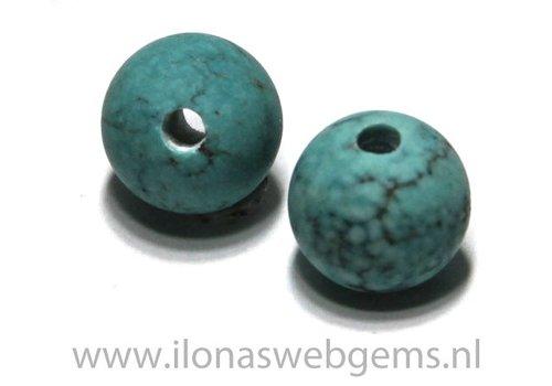 1 Howlith Perle mit gross Innenloch