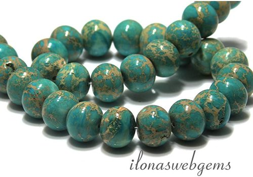 Imperial jaspis Perlen Rondell ca. 15x12mm