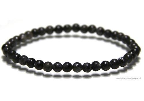 Jasper beads bracelet matte approximately 3.9mm