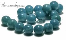 Blue sponge Quarz Perlen rund ca. 22mm