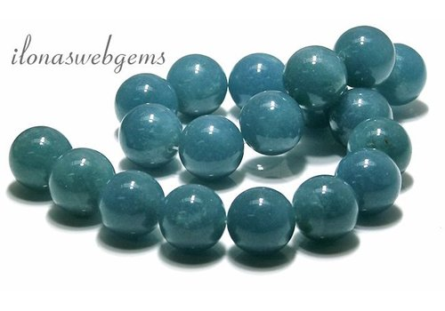 Blue sponge Quartz beads round app. 22mm