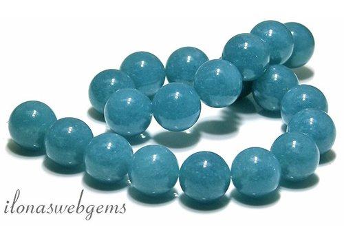 Blue sponge Quarz Perlen rund ca. 20mm