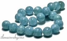 Blauer Schwamm Quarzperlen ca. 18mm