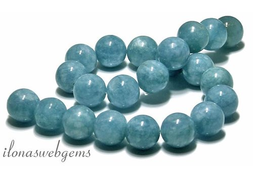 Blue Sponge Quartz beads approx 18mm