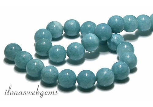 Blue Sponge Quartz beads approx 16mm