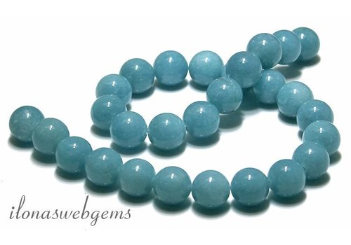 Blue Sponge Quartz beads approx 14mm