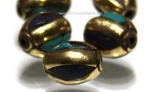 5 stücke Tibetanische messing Perle mit Lapis Lazuli und Türkis