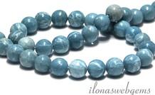 Larimar   Perlen rund gefärbt ca. 10mm