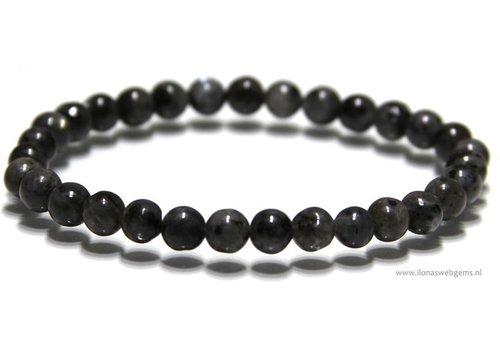 Larvikite beads bracelet app. 5.8mm
