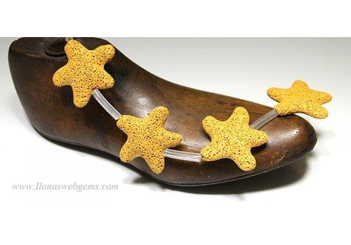 lavastone yellow starfish app. 40x10mm