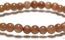 Mondstein Perlen Armband 6mm ca.
