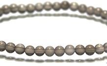 Mondstein Perlen Armband um 4.3mm