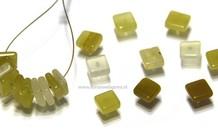 20 stücke gelben Opal Perle viereckig