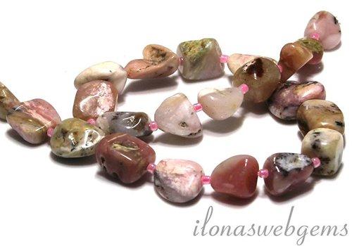 Roze Opaal kralen ca. 15x8-20x12mm