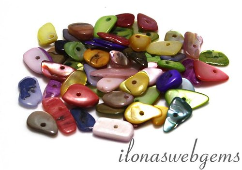 10cm Mother of pearl slices app. 6-18mm