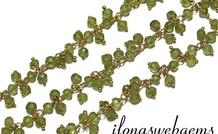10 cm vermeil Kettenmit Perlen Peridot ca. 3.5mm