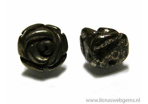 1 Edelsteen roosje Pyriet