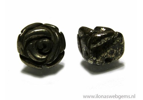1 Pyrit Rose ca. 10x8mm