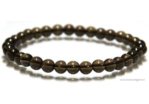 Smoke Quartz beads bracelet app. 6mm