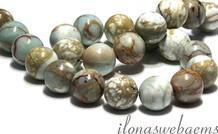 Serpentin Perlen rund ca. 18mm
