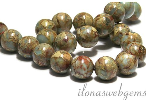 Serpetine beads round app. 18mm