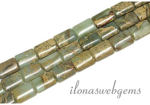 Serpentine / Serpentijn kralen ca. 14x10x4mm