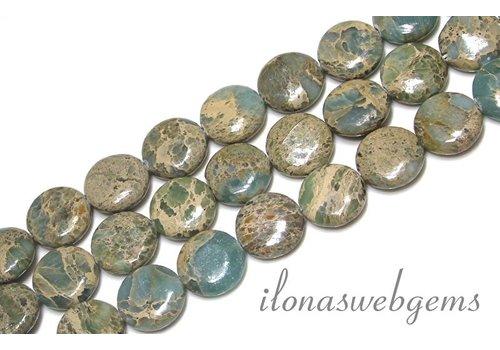 Serpentin Perlen ca. 16x6mm