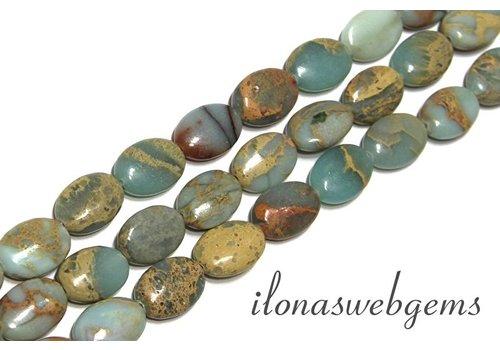 Serpentin Perlen ca. 14x10x5mm